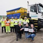 New names for council's gritter lorries are unveiled