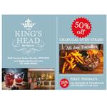 Kings Head Offer Steak Tuesdays, Fizzy Fridays