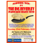 Time to enter your teams for the Beverley Pancake Race this Sunday