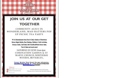 BEVERLEY TOWN COUNCIL & ST MARYS CHURCH - The Great Get Together