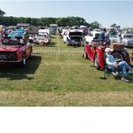 The East Yorkshire Thoroughbred Car Club in Sewerby village