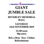 The one and only Beverley Giant Jumble sale!