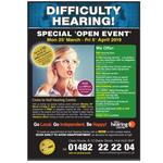 Difficulty in Hearing! Special open event.