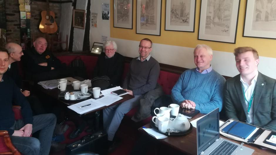 Graham at Minsters Rail Campaign group committee meeting (Beverley York rail line)