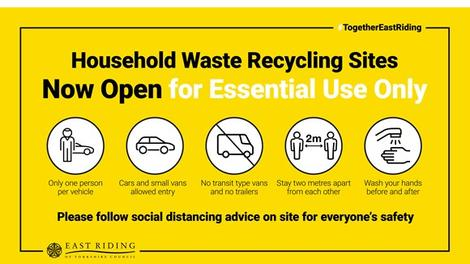 Opening hours extended at Weel household waste recycling site, Beverley