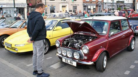 It's the Classic Car Midsummer Gathering in Saturday Market, Beverley on Wednesday
