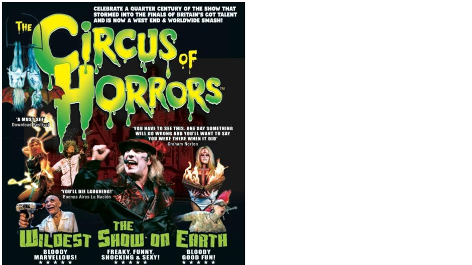 Circus of Horrors to appear at Bridlington Spa on June 1st