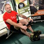 Ivan's huge fundraising success at East Riding Leisure Francis Scaife.