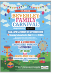 First Beverley Family Carnival to be held September 1st at Beverley Leisure